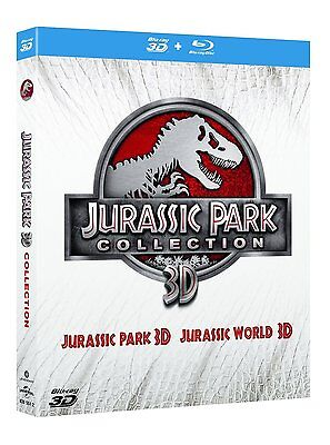 Jurassic Park Collection 3D ( 2 Blu-Ray 3D + 2 Blu-Ray )  NUOVO