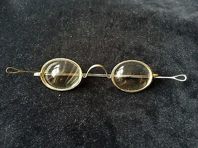 Pair of Vintage Antique Steel Framed Mr Pickwick Spectacles