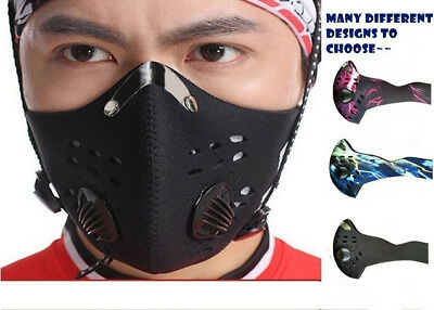 Anti PM2.5 Dust Pollution Breathable MotorBike Bike Activate Carbon Filter  Mask