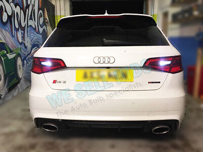 2x Audi A3 S3 RS3 8v Reverse White canbus Bulbs 8smd SMD Error Free BAX9S 3030