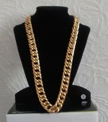 """28"""" Gold Plated Aluminum Chunky Chain Necklace Boyfriend Christmas Birthday Gift"""