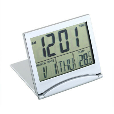Desk Digital LCD Clock with Calendar Date Temperature Time Battery, Student Gift