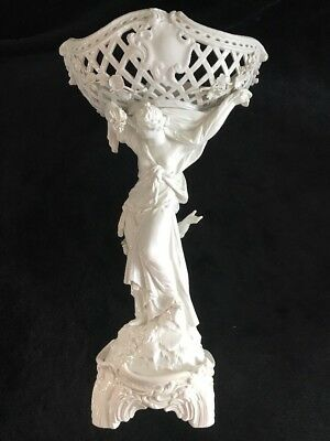 Super Large Antique KPM Porcelain Compote Blanc De Chine Rare