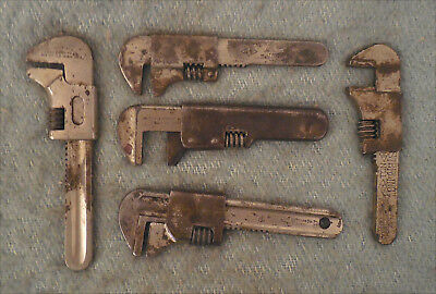 Antique Lot 5 Pocket Bicycle Motorcycle Wrenches Springfield Wakefield Mossberg