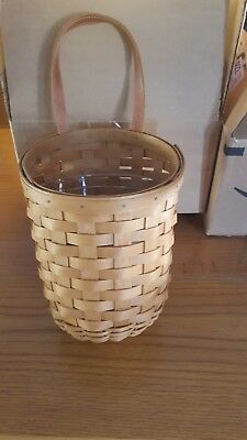 Longaberger Large Foyer Hanging Basket with Protector and product card