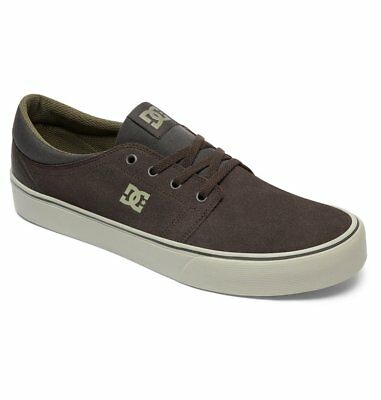 Dc Shoes Trase Sd Suede Military Green - Cream Adys300172 Mc3 Mens   Rrp £55