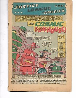 Justice League Of America #7 ( Oct-Nov 1961 ) Coverless