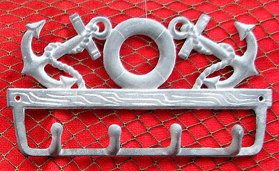 Cast Iron Anchor and Life Preserver Key Hook  Wall Mount Nautical Decor