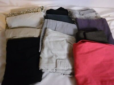 12 Pc Mixed Lot Women's Clothes Jeans Capris Dress Pants Shorts Size 8   (L93)