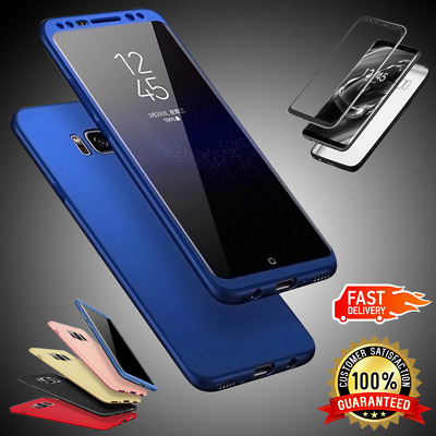 New Front+Back Bumper Hybrid 360 Thin Slim Case Cover For Samsung Galaxy Phones