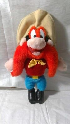 "Yosemite Sam 10"" Looney Tunes 1995 ACE stuffed plush doll Red Mustache Vintage"