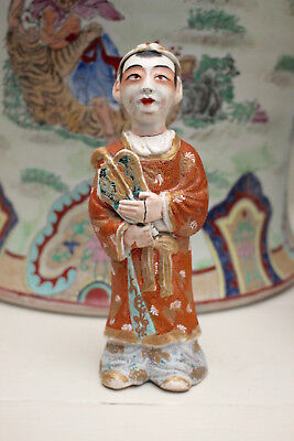 A c19th Antique Chinese Ceramic Figurine, Robed Gentleman