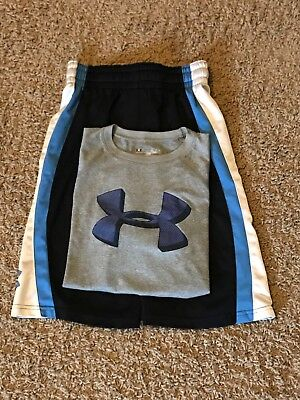 Under Armour Boys Size YSM Outfit Shorts & Shirt