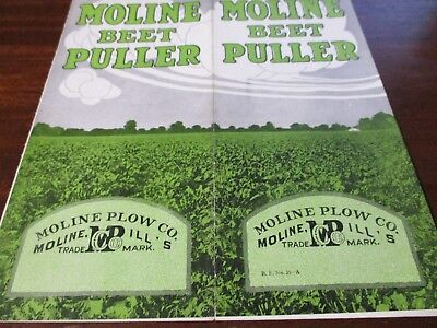 Moline No 3 Horse Drawn Beet Puller Sales Brochure