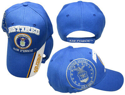US Air Force Retired Blue White Bill Shadow Blue Embroidered Cap Hat CAP593  TOPW 074aa713297c