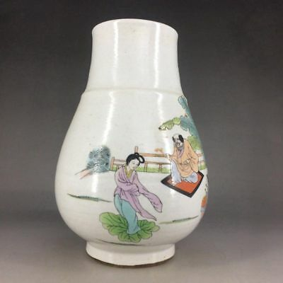 Ancient ceramic jar by hand drawing the eight immortals figure (jingdezhen)