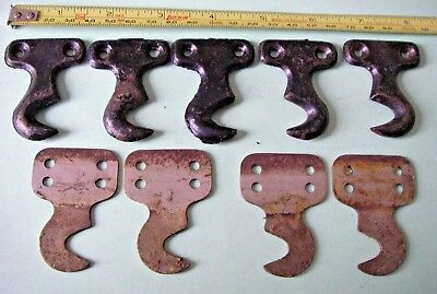 9 Vintage Singer Treadle Sewing Machine Cast & Metal Drawer Hook Brackets