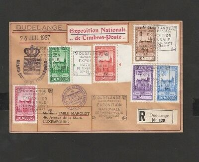 Luxembourg Stamps Used Cover Envelope