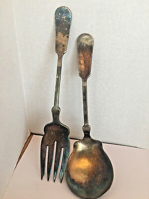 The Bailey Banks & Biddle Co. Silver plate Ladle, Serving Spoon and Serving Fork