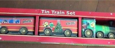 m & m's TIN TRAIN SET - New in Box - 2017 - m&m's