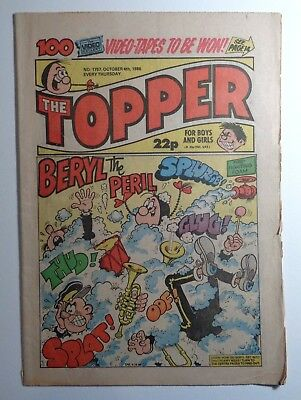 The Topper Comic No.1757 4th October 1986 D.C. Thomson Cartoon Humour