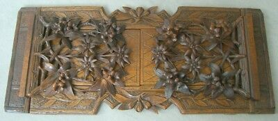 Circa 1900 Black Forest (BRIENZ) Hand carved Bookends with Edelweiss