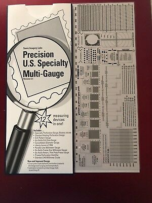 Stamp Perforation Gauge - Precision  Multi Gauge -  12 Measuring Devices In One!