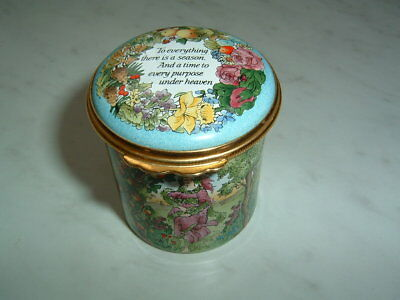 Stunning Halcyon Days England Enamel Box Ecclesiasties Horchow Collection Mint