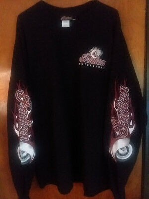 New Indian Motorcycle Long Sleeve Shirt Xxl     2Xl