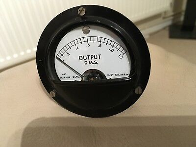 Vintage Marion Electrical Instrument Company RMS Output Meter
