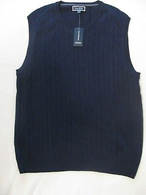 NWT $49.50 Men's Club Room Sweater Vest Sizes S-XL