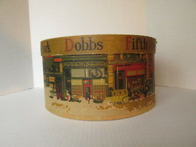 "Vintage Dobbs Fifth Avenue New York Hat Box 12 1/4"" Round"