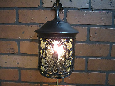 Vintage Antique Porch Light Spanish Revival Bungalow Cottage Wall Light 13 1/2""