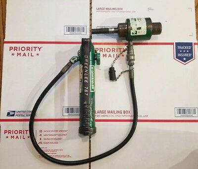 Greenlee Hydraulic Punch Knockout Hand Pump 767 electrician knock out set