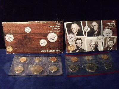 1985 United States P-D-S Mint Uncirculated Coin Set 10 Coins FREE SHIPPING