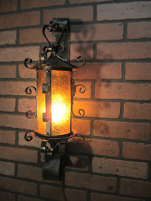 "Vintage Antique Spanish Revival Porch Light Sconce Spanish Monterey Gothic 21"" T"