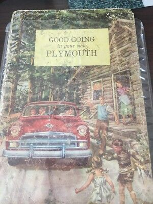 Good Going In Your New Plymouth 1950 Owner's Manual Decent Condition