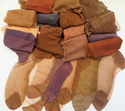 TRUE VINTAGE Lot of 20 pairs Seamless Stockings - Ideal for Resale! Good Variety