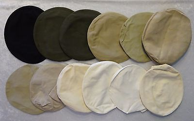 Vtg WWII Military Service Cap Replaceable Covers Variety Cloth Colors Lot of 12