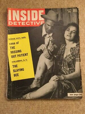 Inside Detective. 1956 Us Crime Magazine.free Uk P£P