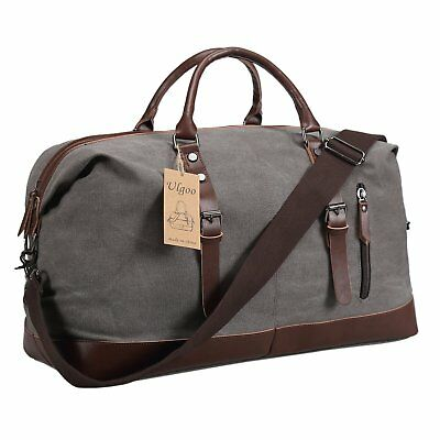 830686f691 Ulgoo Duffel bag Oversized Canvas Travel Bag PU Leather Weekend Bag  Overnight G