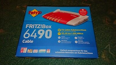 AVM FRITZBox 6490 Cable 1300 Mbps 4-Port 1000 Mbps Wi-Fi 802.11ac Router