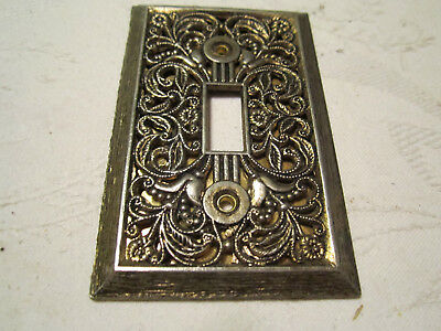 Vintage Looking Antique Brass Single Light Switch Plate Cover