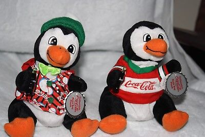 New W/tags Coca-Cola Coke Bean Bag Plush-1999 Christmas Penguins (2)