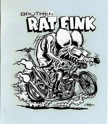 """Brother Rat Fink waterslide decal Ed """"Big Daddy"""" Roth Ed Newton"""