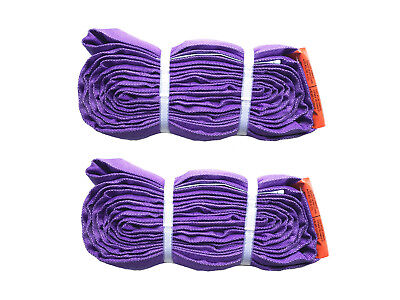 2-PACK - 3' PURPLE Round Endless loop Polyester Sling Lifting