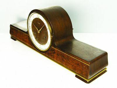 Big Pure  Art Deco Design Chiming Mantel Clock From  Kienzle