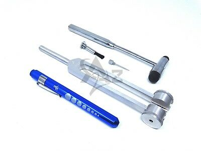 Set of 3 pcs Reflex Buck Percussion Hammer BLUE Penlight Tuning Fork C 128