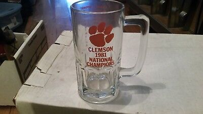 Clemson Tigers 1981 National Champions 1 Liter Glass Beer Mug