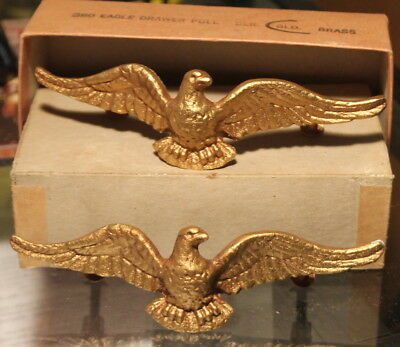 Vintage Wilton Brass Co. Drawer Pulls, American Eagle N.o.s. New In Box